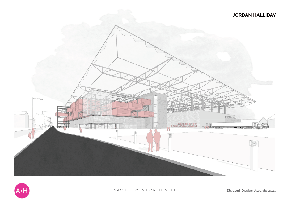 Jordan Halliday TYPOLOGICAL HYBRIDITY: THE INTEGRATED URBAN STADIUM AS A METHOD OF MITIGATION FOR PUBLIC HEALTH ISSUES University of Huddersfield Highly commended MA award