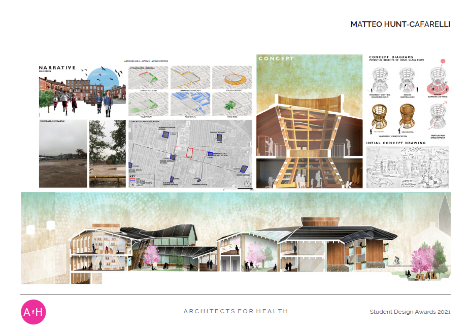 Matteo Hunt-Caferelli ARTHURS HILL: 'Active - Aging Centre' Newcastle University Highly commended BA Architecture award